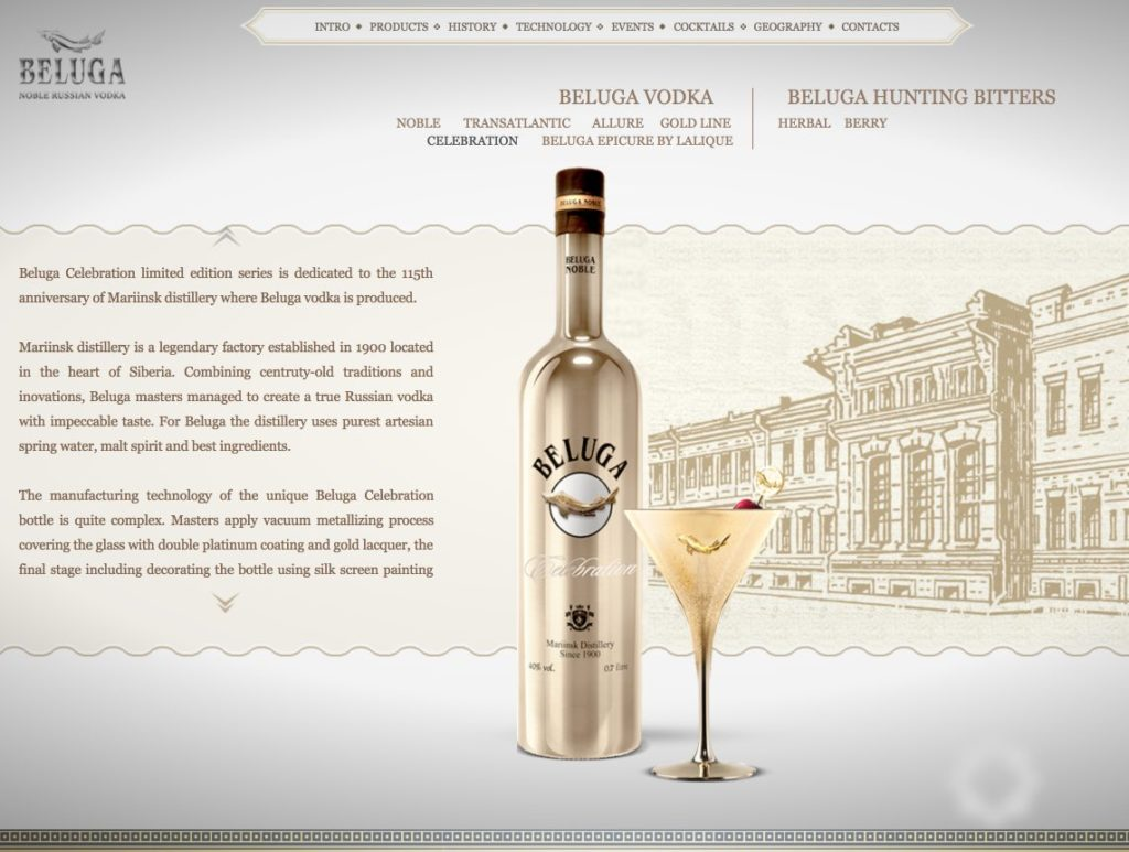 Beluga - Noble Vodka ruso