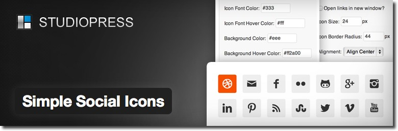 Plugin Simple Social Icons