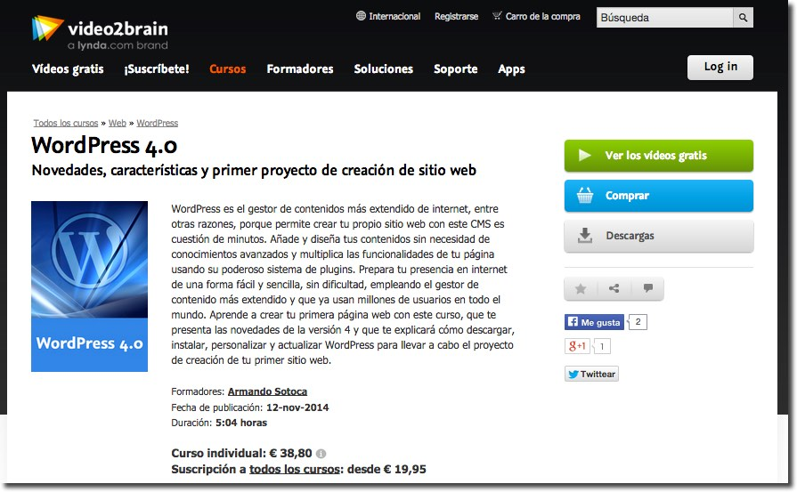 Video2brain Curso WordPress 4.0