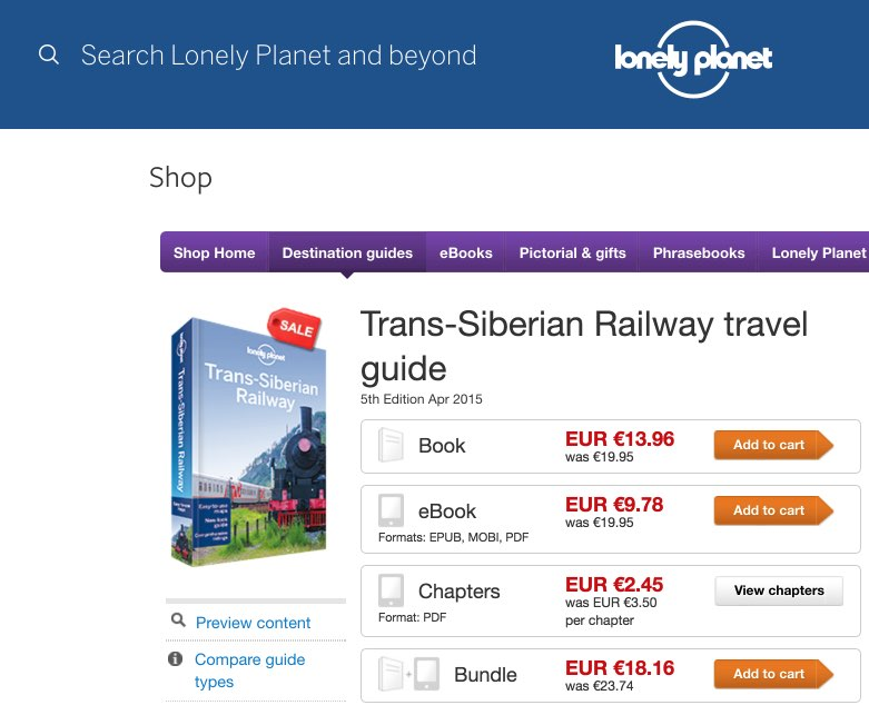 Trans-Siberian Railway travel guidebook – Lonely Planet - Guias turisticas viaje Rusia