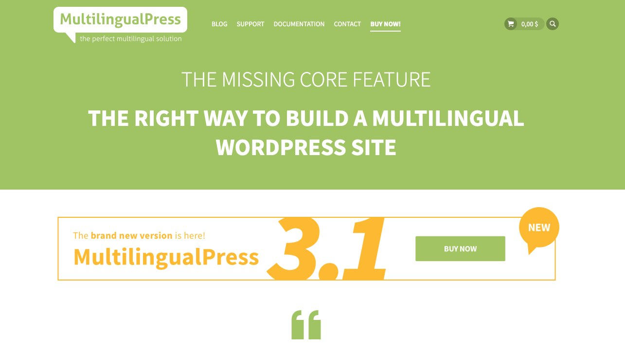 MultilingualPress - Crear sitios web WordPress Multilingues