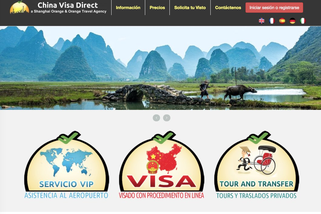Sitio web China Visa Direct - Visado Colectivo a China