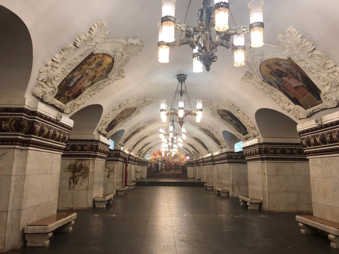 Interior of the Moscow Metro 4
