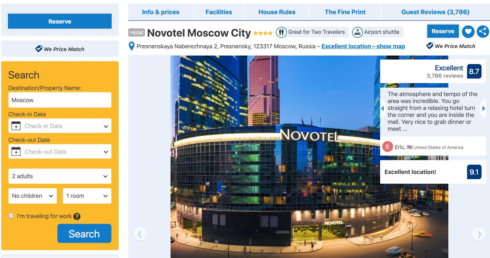 Novotel Moscow City - Russia - Booking.com