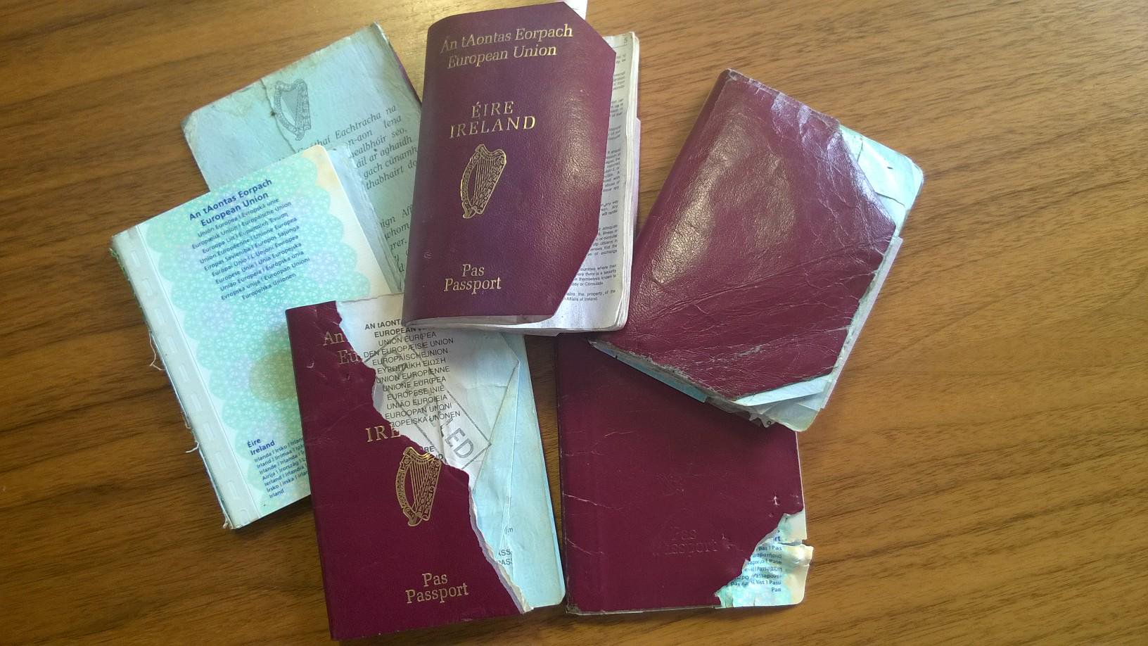 Damaged passports