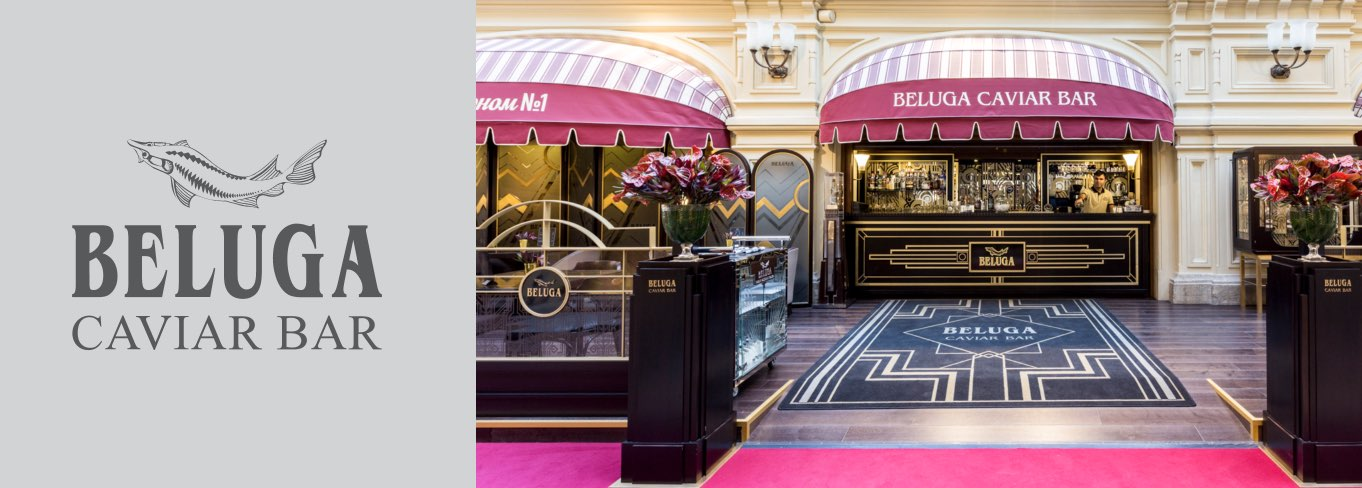 Beluga Caviar Bar in the main department store of the country - Gum Galleries