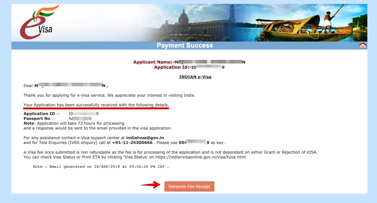 Solicitar e-Visa a India - Paso 19