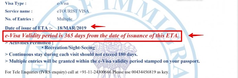 e-Visa a India Concedida - Granted - 1 año